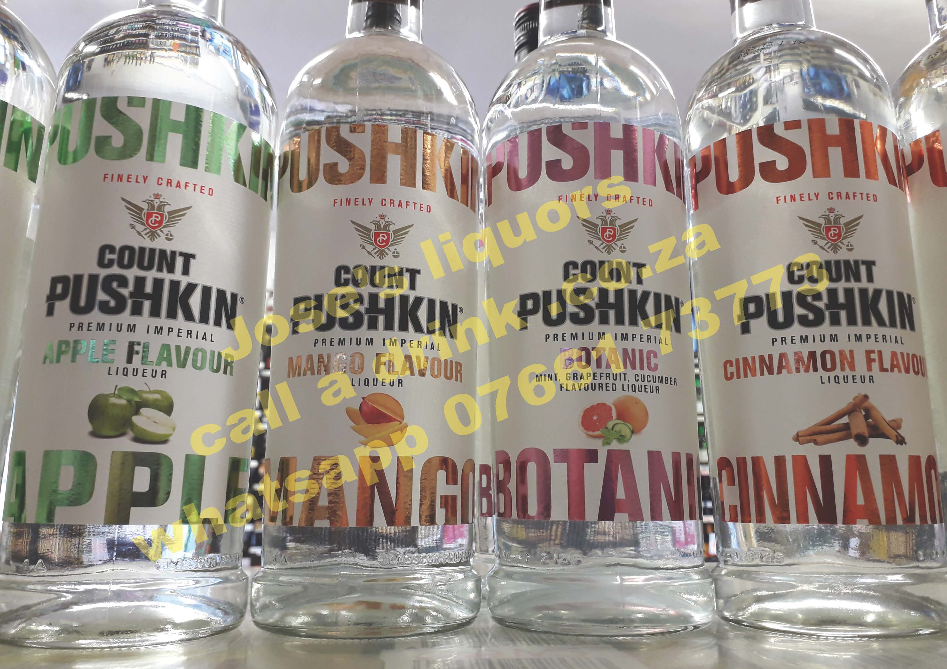 Count Pushkin Botanic (mint-grapefruit-cucumber) Vodka ...